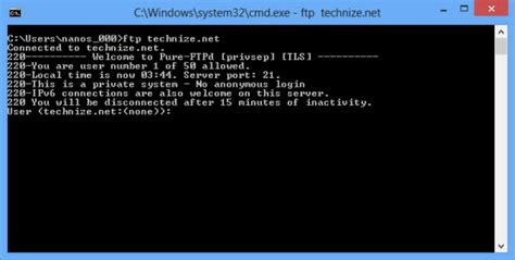 ftp command use ftp from command line
