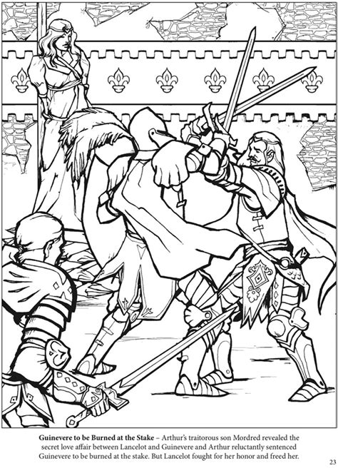 coloring pages of king arthur the adventures of king arthur coloring book dover