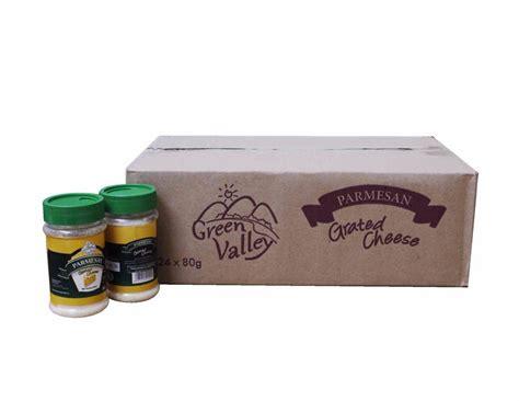 Green Valley Parmesan Cheese 80g jual keju parmesan green valley 24 x 80 gr grosir