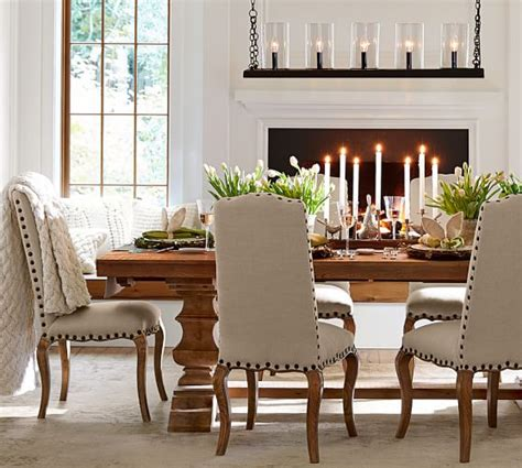 dining room table pottery barn banks reclaimed wood extending dining table pottery barn