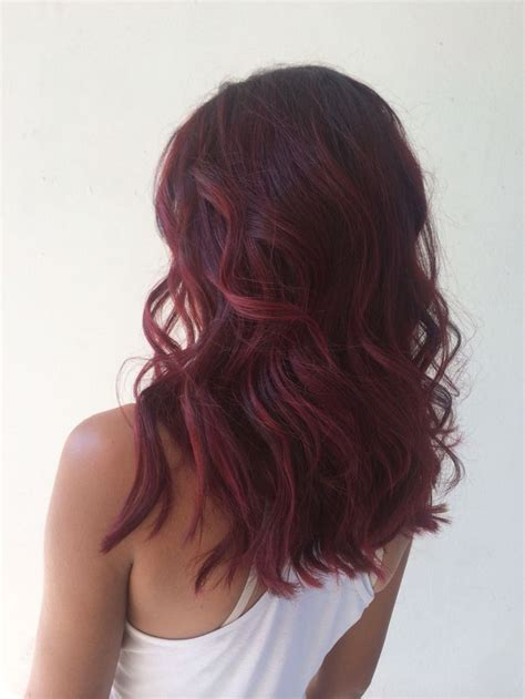 hairstyles for mid length red hair shoulder length dark red hair www pixshark com images