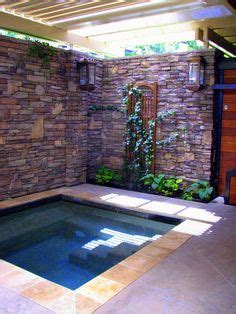 enclosed hot tub area complete  lighting privacy
