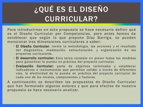 Dise O Curricular Por Competencias Diaz Barriga propuesta dise 241 o curricular por competencias