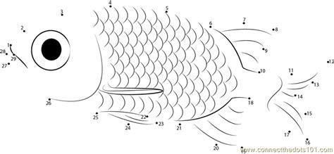 printable dot to dot fish small fish dot to dot printable worksheet
