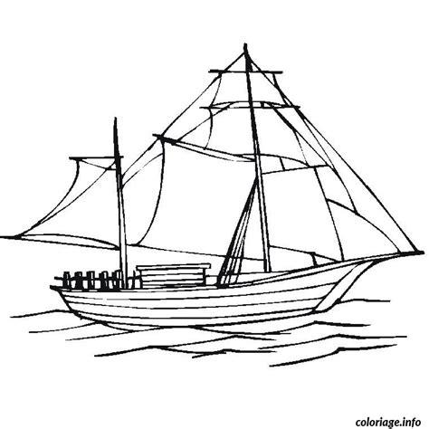 dessin bateau colorier coloriage bateau voile dessin
