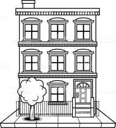Apartment Building Used In Single White Apartment Building Stock Vector 484204046 Istock