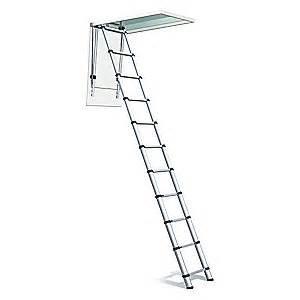 telesteps aluminum attic ladder 20yv89 1000l grainger