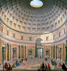 interior of the pantheon painting by panini