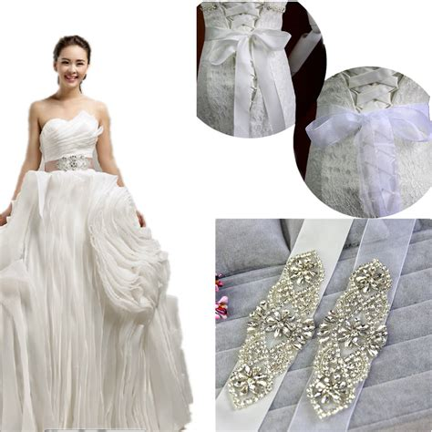 bridal vintage sash rhinestone yarn ribbon wedding