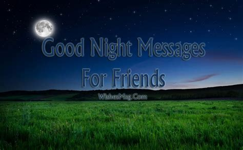 good night messages  friends wishes  wishesmsg
