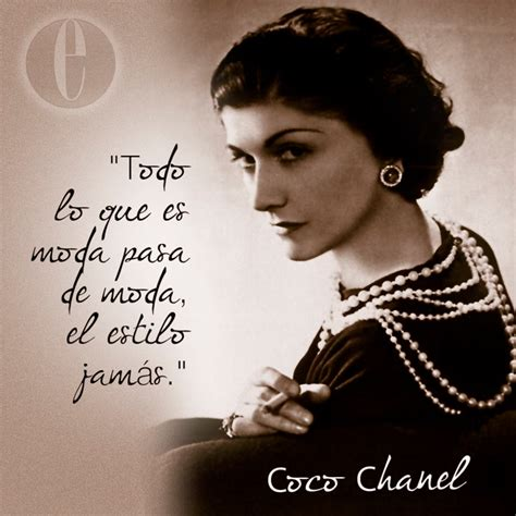 Coco Chanel Biography In Spanish | coco chanel spanish quotes pinterest coco chanel