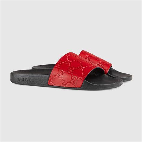 womens sandals slide gucci signature slide sandal gucci s slides