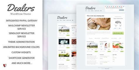 themeforest deals dealers daily deals wordpress theme v1 6 wordpress