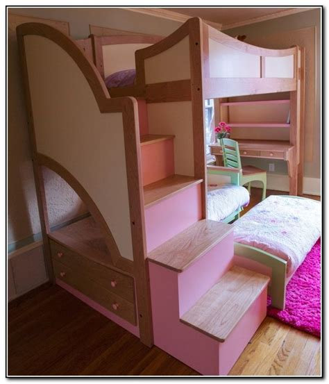girl bunk beds with stairs bunk beds with stairs for teenage girls beds home
