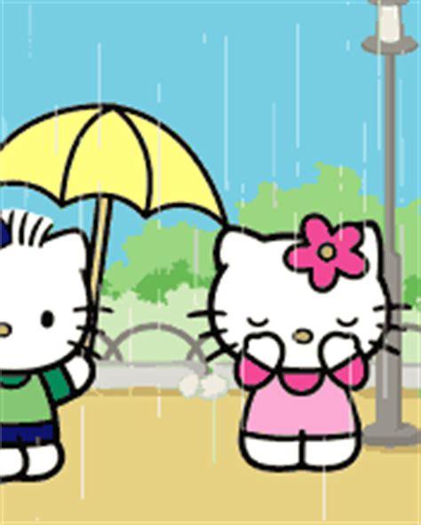 mengecilkan format gif gambar animasi hujan hello kitty lucu foto lucu terbaru