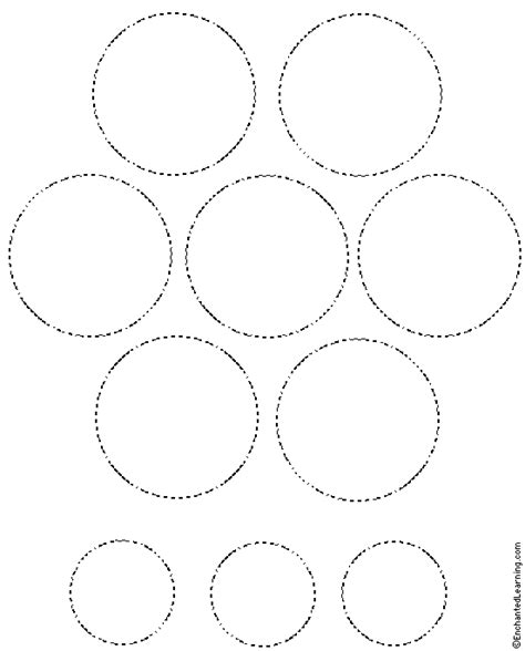 tree tracing cutting template enchantedlearning circles free clip free clip on