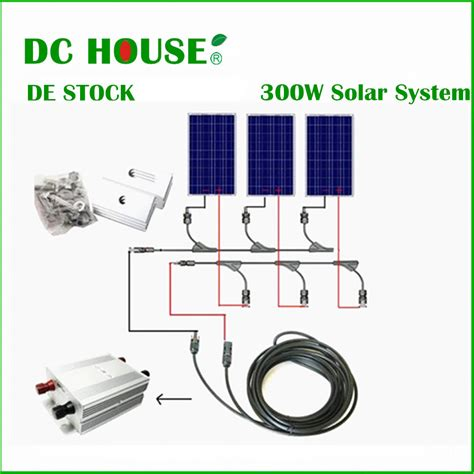 Genset Komplit Panel Surya 300w de stock home solar systerm complete kit 300w solar panel cells grid system in alternative