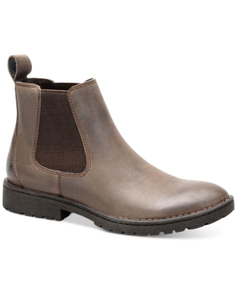 mens born boots lyst born julian chelsea boots in brown for
