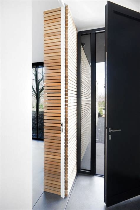 Wood Slat Wall Architecture Pinterest Sliding Doors Slatted Interior Doors