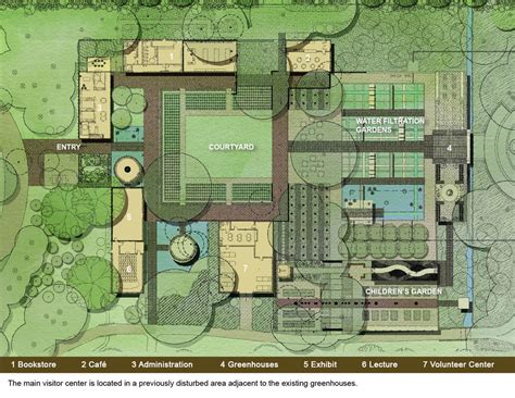 Courtyard House Floor Plans by Shangri La Botanical Gardens Aia Top Ten
