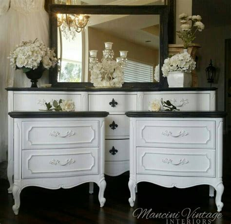 French Provincial Glam Boudoir Bedroom Set Black And White Black And White Bedroom Furniture Sets
