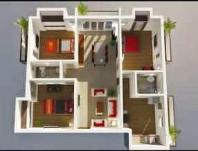 3 Bed 3 Bedroom Floor Plans 3d Images