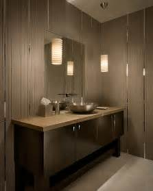 Contemporary Modern Bathroom Lighting Modern Tiled Bathroom With Stylish Pendant Ls Decoist