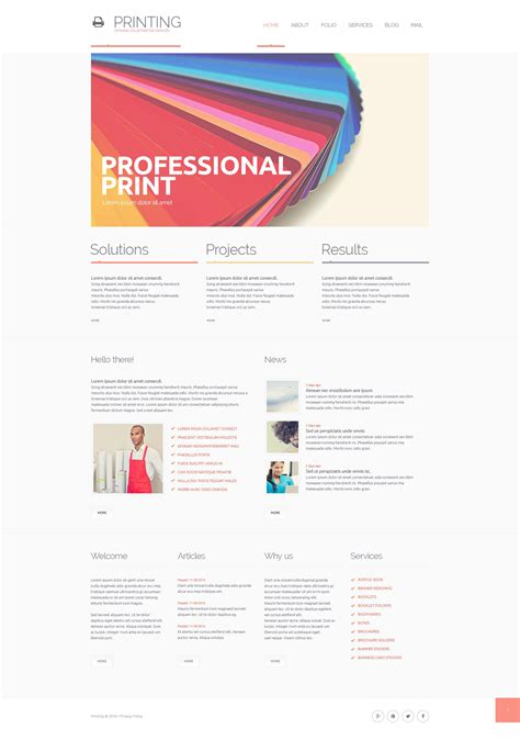 Print Shop Responsive Website Template 51368 Print Shop Website Template