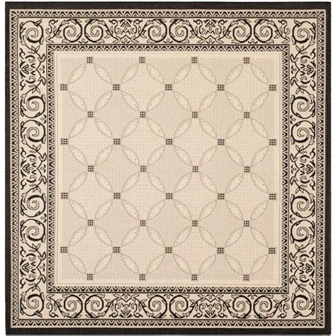 Square Indoor Outdoor Rugs Safavieh Courtyard Sand Black 7 Ft 10 In X 7 Ft 10 In Indoor Outdoor Square Area Rug Cy1502