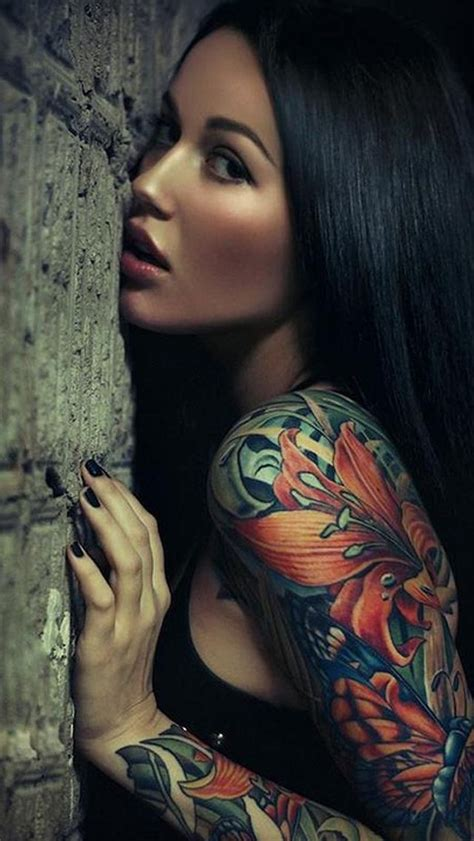 tattoo girl wallpaper iphone 6 sexy sleeve tattoo girl iphone 5 wallpaper tattoos