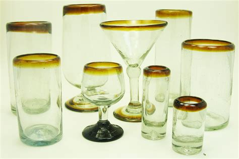 Shop Glassware Shop By Glass Color Blown Glasses From Mexico
