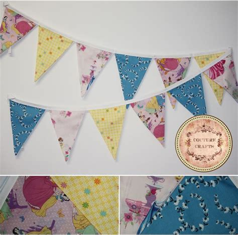 Handmade Childrens Books - handmade fabric flag banner bunting quot disney princess