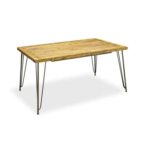 Hicks And Hicks Mango Wood Industrial Dining Table Hicks Next Mango Dining Table