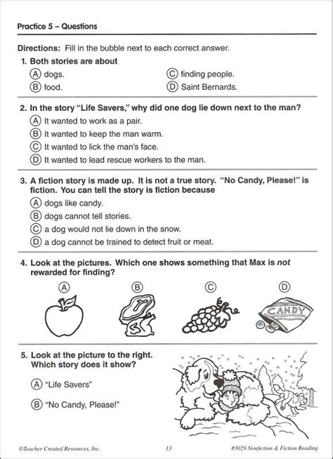 reading comprehension test narrative practice makes perfect nonfiction fiction reading