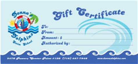 swim lesson gift certificate pictures to pin on pinterest