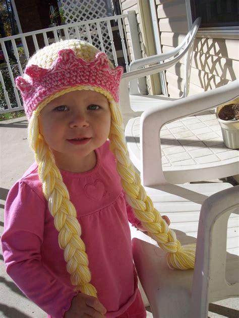 Crochet Princess Hat With Braids | crochet toddler princess hat http stitch11 com princess