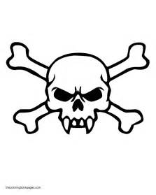 Skull And Crossbones Coloring Pages sketch template