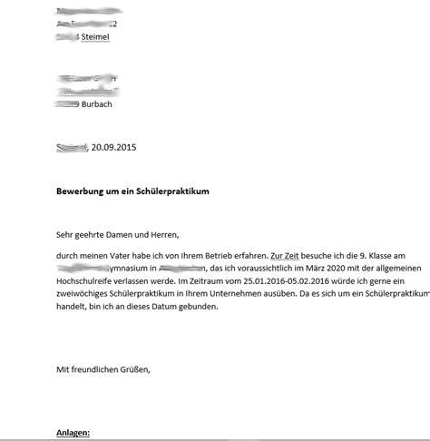 Bewerbungsschreiben Praktikum In Apotheke Ist Die Bewerbung F 252 R Ein Sch 252 Lerpraktikum In Ordnung