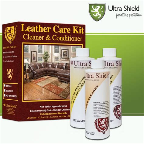 Leather Sofa Care Kit by Ultra Shield Furniture Care Leather Kit