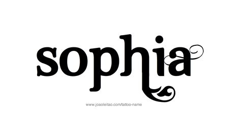 sophia in cursive tattoo pictures to pin on pinterest