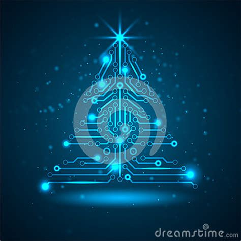 abstract technology christmas tree stock photos image