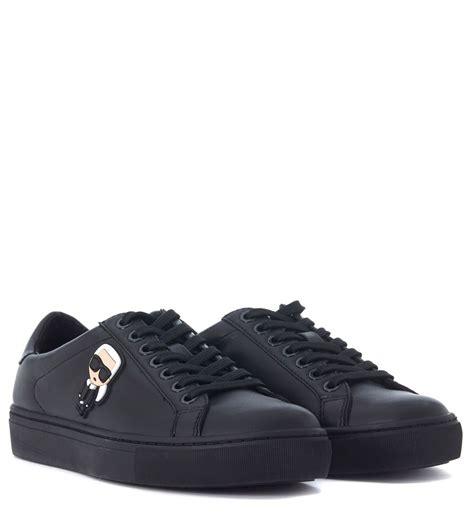 karl lagerfeld sneakers karl lagerfeld karl lagerfeld black leather sneaker