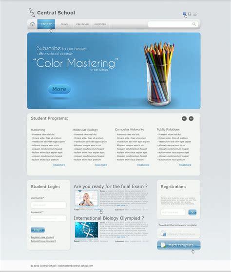 templates for website of school school website template by nzhul on deviantart