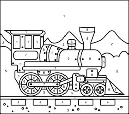 number train coloring page train coloring page printables apps for kids
