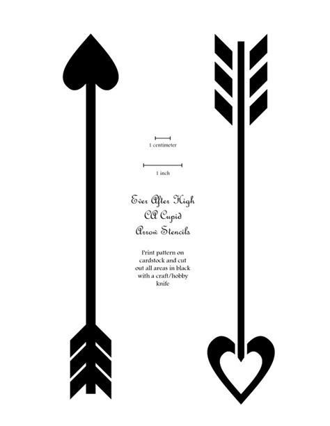 Cupid Arrow Stencils For Skirt By Mistakenolive On Deviantart Arrow Stencil Template