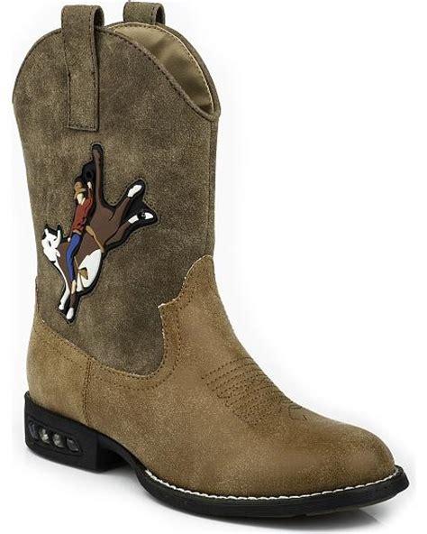 boys light up boots roper boys light up bull rider cowboy boots toe