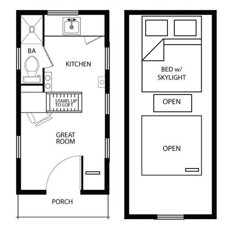 Guest House Floor Plans 500 Sq Ft by Modern Amp Traditional Tiny House Plans Time To Build