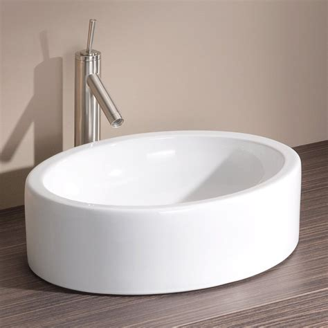 cheviot bathroom sinks shop cheviot white vessel round bathroom sink at lowes com