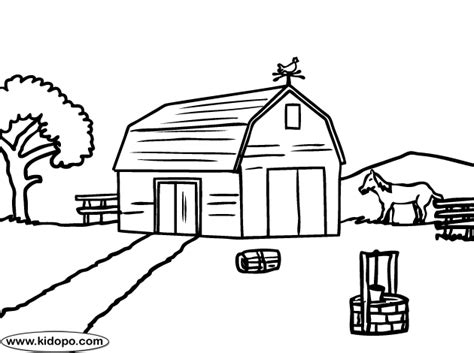 farm coloring page