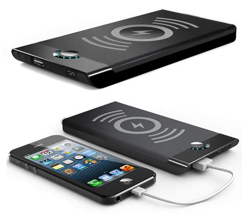 l with phone charger black qi wireless charger pad 4000mah portable battery